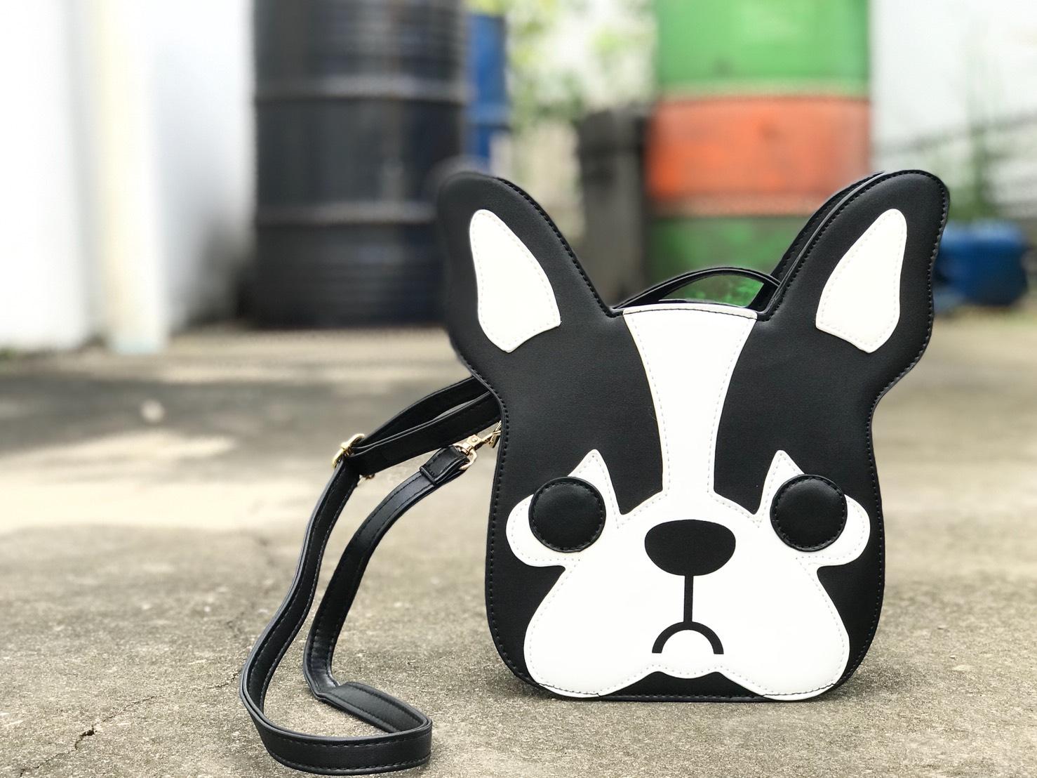 กระเป๋าหนังแฟชั่นลาย bulldog