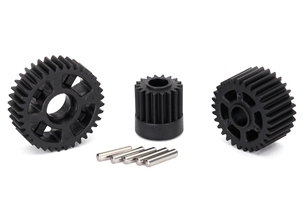 Gear set, transmission (includes 18T, 30T input gears, 36T output gear, 2x10.3 pins (5))