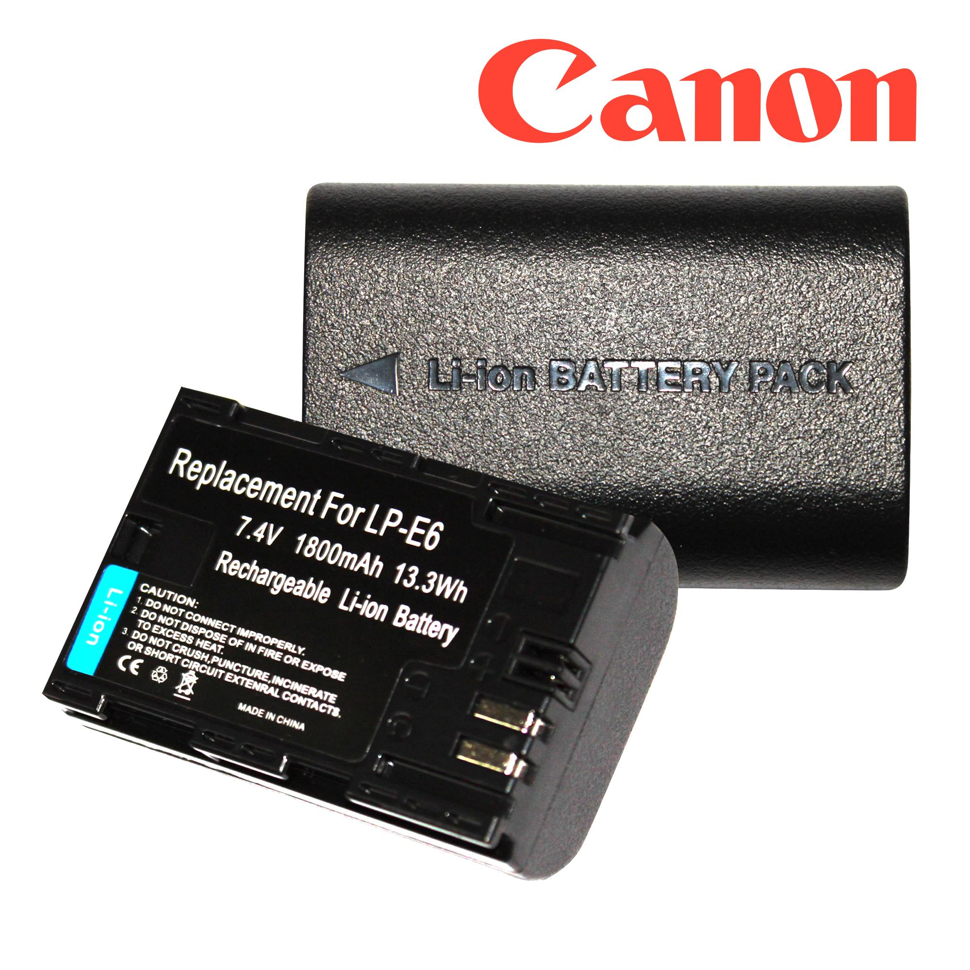 แบตเตอรี่กล้อง Canon LP E6 Li-ion Battery LP-E6 LPE6 1800mAh for Canon 6D 5D Mark III 5D Mark II 7D 60D Camera
