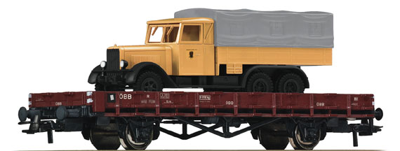 Roco67260 stake car with car load