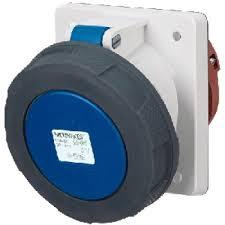 ปลั๊กตัวเมียฝัง แบบเฉียง 20 ํ ชนิดกันน้ำ IP67 125Amp ขั้ว 2+E 230V
