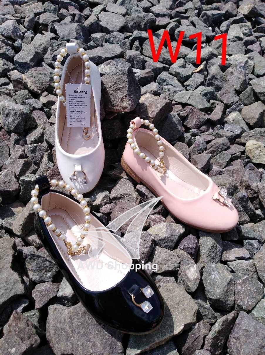รองเท้าแฟชั่น (เด็กผู้หญิง) สีดำ / สีขาว / สีชมพู