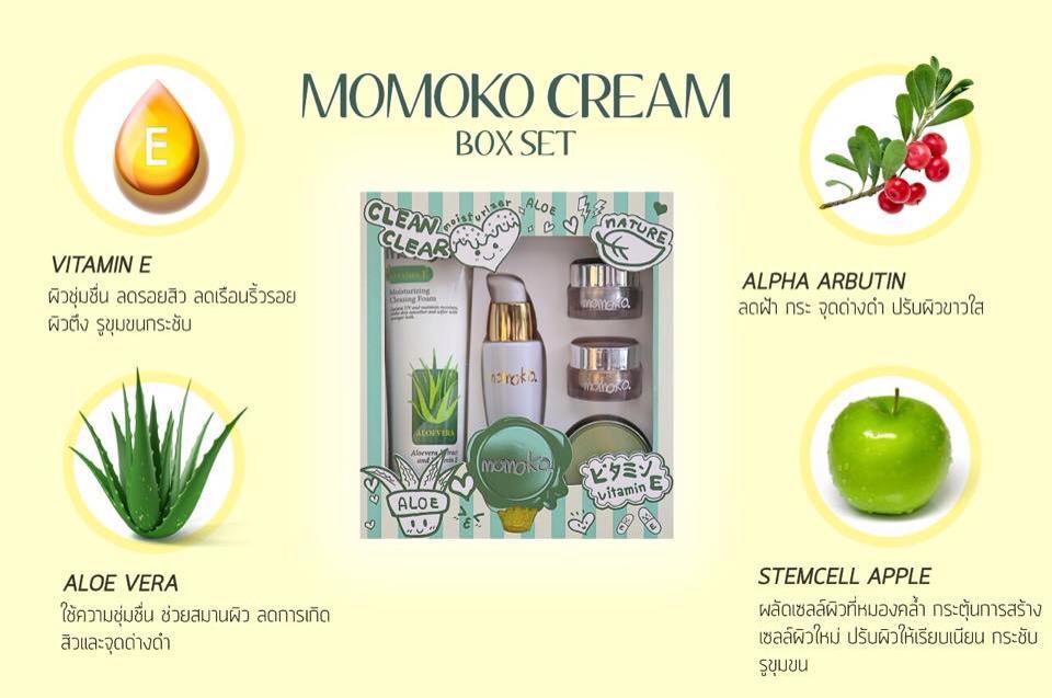 Momoko Box Set โมโมโกะ บ็อกซ์ เซต สวยครบจบทุกปัญหาผิว