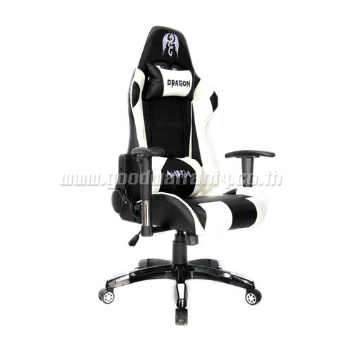 เก้าอี้ เกมมิ่ง DRAGON NAVRA ERGONOMIC GAMING CHAIR รุ่น NAVRA-8182 สีขาวดำ