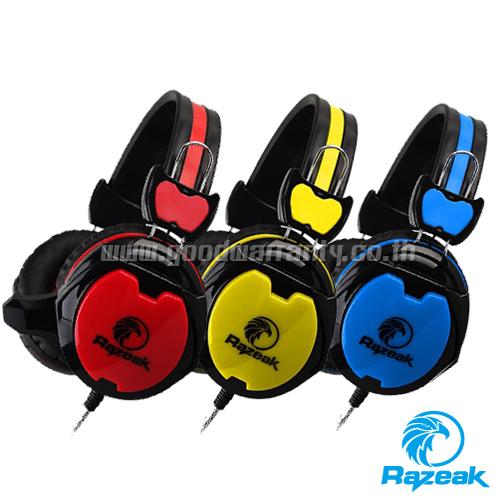RAZEAK HEADPHONE RH-07 MOLTRES หูฟังพร้อมไมค์ มี3 สีให้เลือก