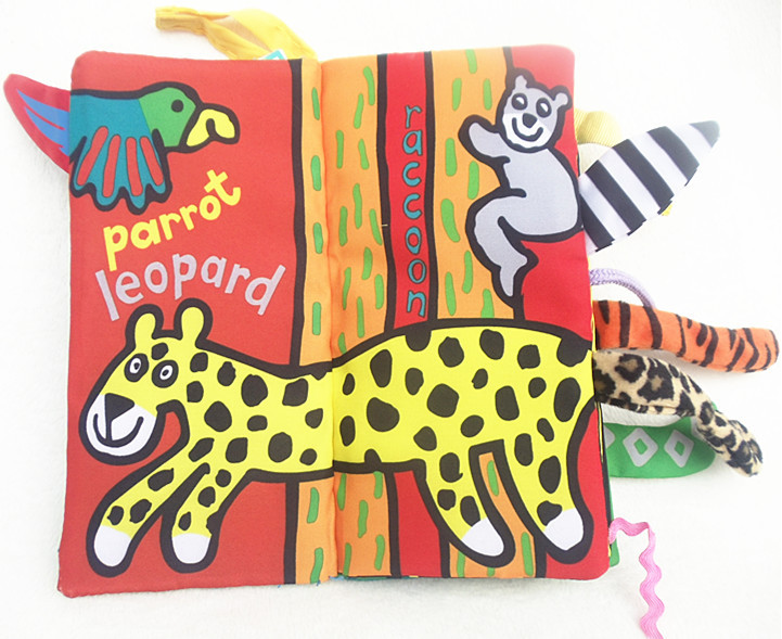 หนังสือผ้า Jungle Tail by Jollybaby