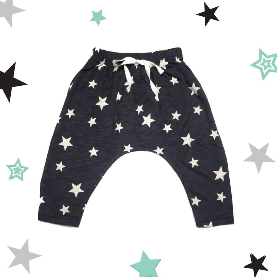 กางเกงก้นป่องลายดาว
