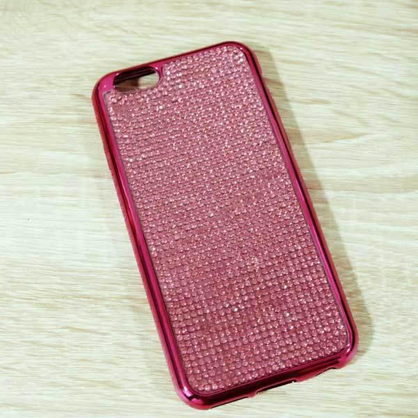 เคสไอโฟน 6/6s เพชรนิ่มชมพู