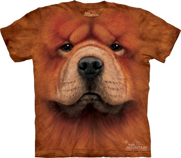 Big Face Chow Chow Dog Face T-Shirts