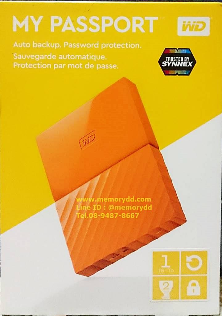 "WD My Passport Ultra 2017 1TB 2.5"" (Orange) USB3.0 (WDBYNN0010BOR-WESN)"