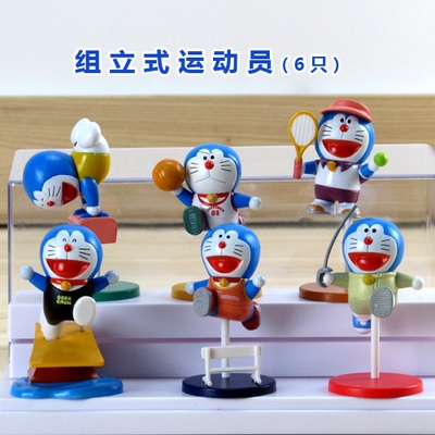 [Preorder] โมเดลโดเรมอนนักกีฬา 6 แบบน่ารัก (ไม่มีฐาน) models duo a dream doll ornaments hand to do the 35th anniversary of the seal of the scene Doraemon Doraemon Toys and Gifts