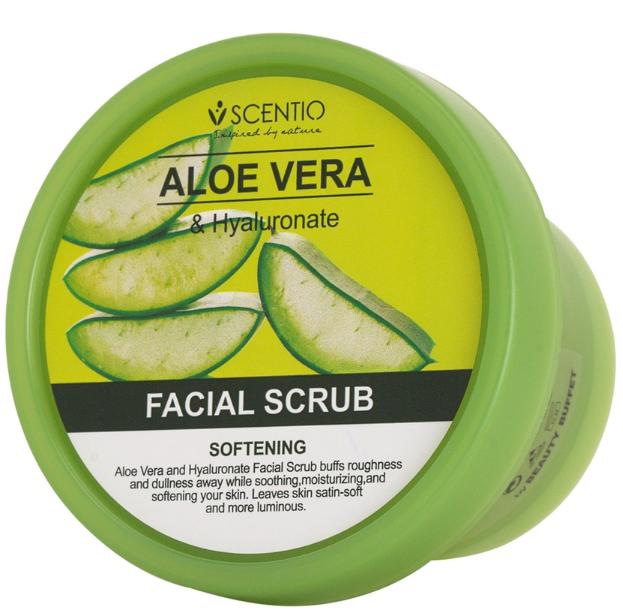 Scentio Aloe Vera & Hyaluronate Facial Scrub