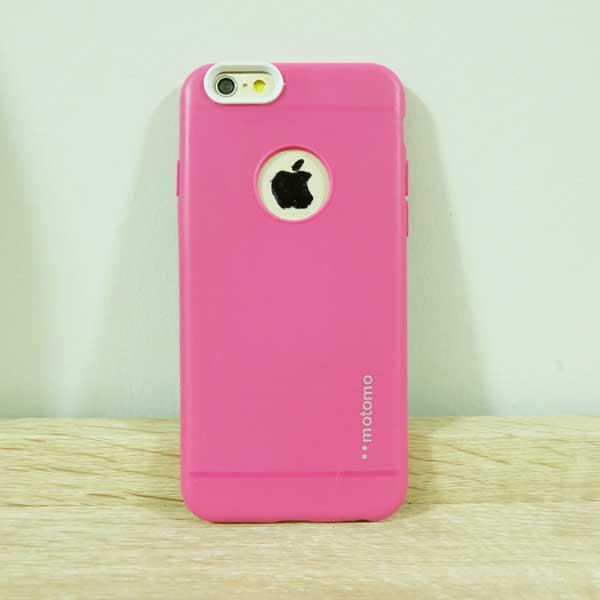 เคสไอโฟน 5/5s/SE motomo สีชมพู