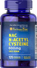 Puritan's Pride NAC N-Acetyl Cysteine 600 mg 120 Capsules