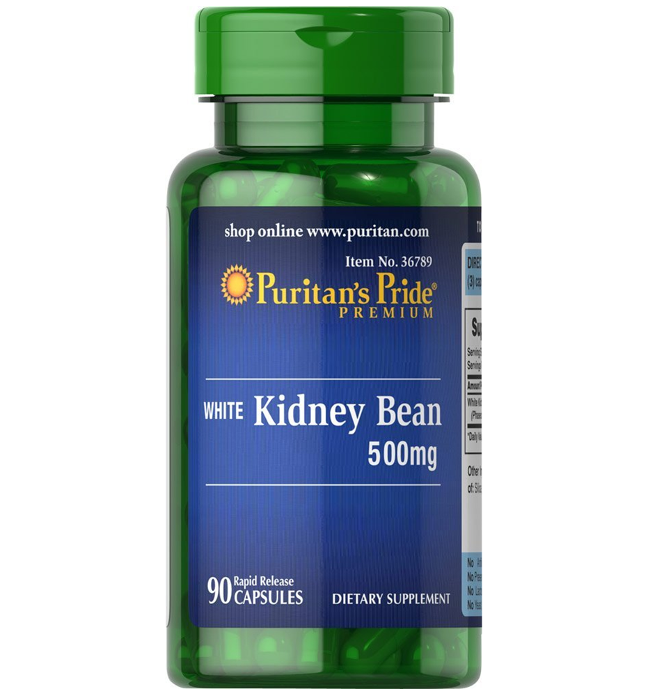 Puritan's Pride White Kidney Bean 500 mg / 90 Capsules