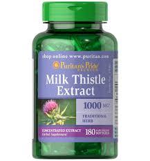 Puritan's Pride Milk Thistle 4:1 Extract 1000 mg (Silymarin)/ 180 Softgels