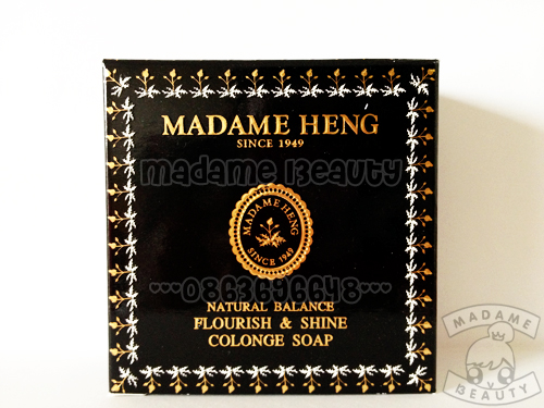 สบู่มาดามเฮง Natural Balance สูตร Flourish & Shine Cologne (ฟลอริช แอนด์ ชายน์ กล่องดำ) x 3 ก้อน