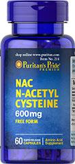 Puritan's Pride NAC N-Acetyl Cysteine 600 mg 60 Capsules