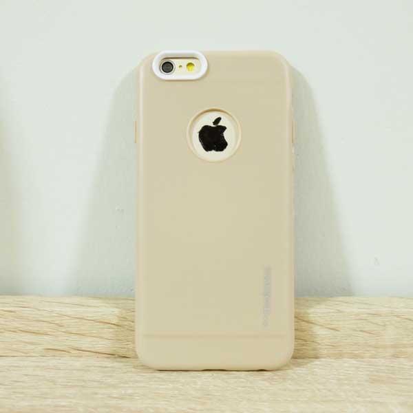 เคสไอโฟน 6/6s motomo สีน้ำตาลอ่อน