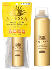 Shiseido Anessa Perfect UV Spray Sunscreen Aqua Booster SPF50+ PA++++ 60g เป็นแบบสเปรย์ ใช้ได้กับทั้งผิวหน้า และผิวกาย
