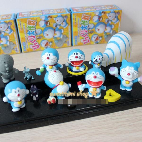 [Preorder] เซ็ทโมเดลโดเรม่อน 8 ชิ้น 8 series Dora A Dream Doraemon cat Doraemon cartoon series Doraemon doll ornaments boxed