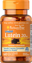 Puritan's Pride - Lutein 20 mg with Zeaxanthin 60 softgels