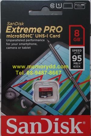 MicroSD Sandisk ExtremePro 8GB 95MB/s (633X)(SIS/Synnex)