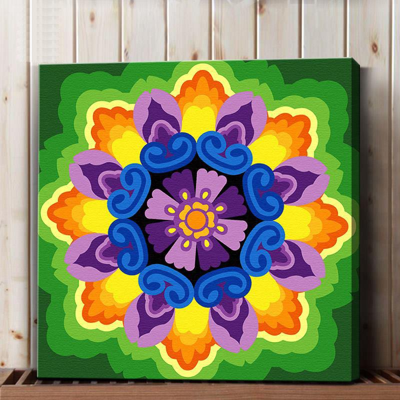 ภาพระบายสี Mandala ฝึกสมาธิ TM030