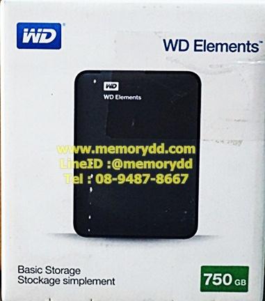 """WD Element 750GB 2.5"""" USB3.0 (Black)(WDBUZG7500ABK)"""
