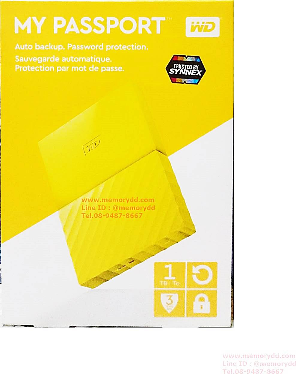 "WD My Passport Ultra 2017 1TB 2.5"" (Yellow) USB3.0 (WDBYNN0010BYL-WESN)"