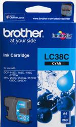 BROTHER INK CARTRIDGE LC-38C สีฟ้า