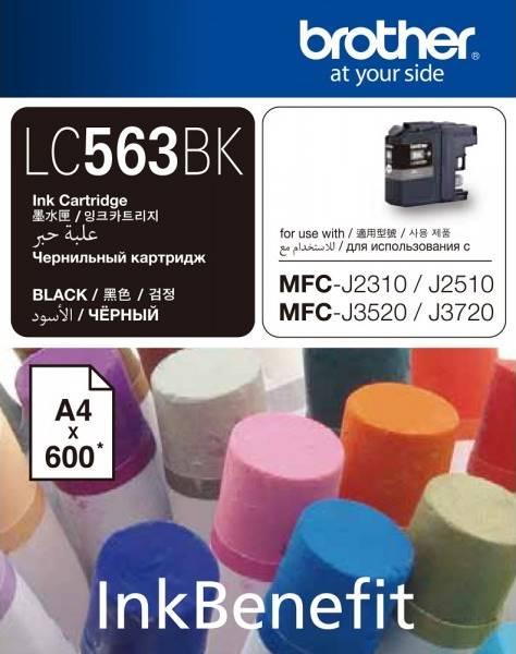BROTHER INK CARTRIDGE LC-563BK สีดำ