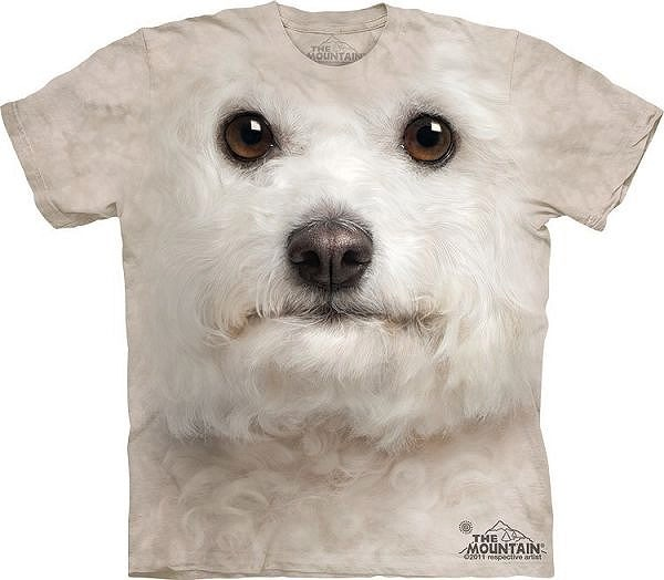 Big Face Bichon Frise Dog T-Shirts