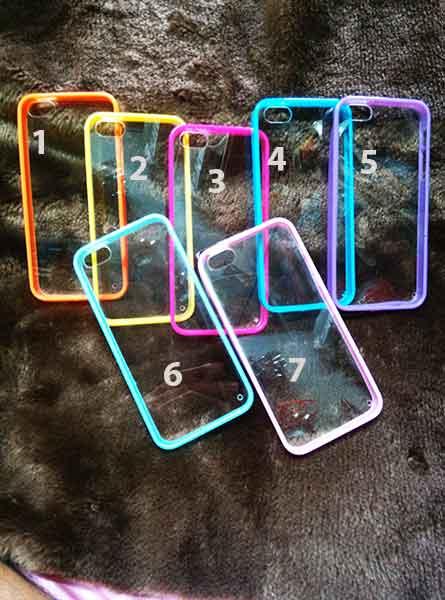 case iphone 5/5s ขอบยางหลังใส2