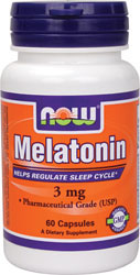 Now Foods - Melatonin 3 mg 60 Capsules