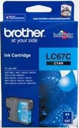 BROTHER INK CARTRIDGE LC-67C สีฟ้า
