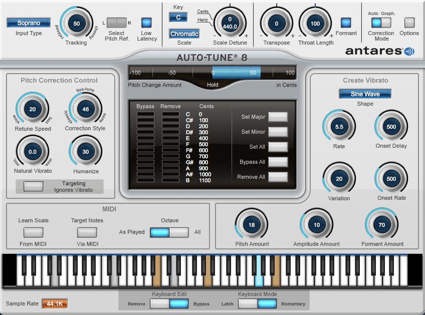 Antares Autotune v 8.1.1