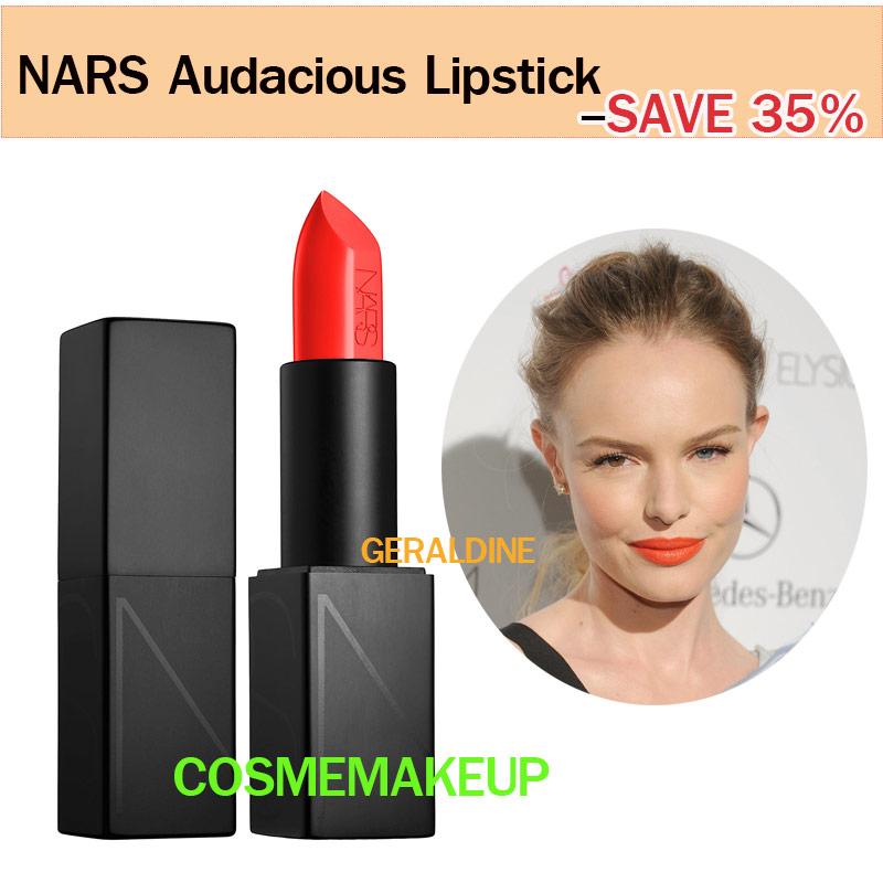 ลด35% เครื่องสำอาง NARS Audacious Lipstick สี GERALDINE ลิปนาร์สสูตรใหม่ limted SEMI - MATTE ให้ผลลัพธ์ที่แบบเรียบ-ติดทน-บำรุง-อวบอิ่ม