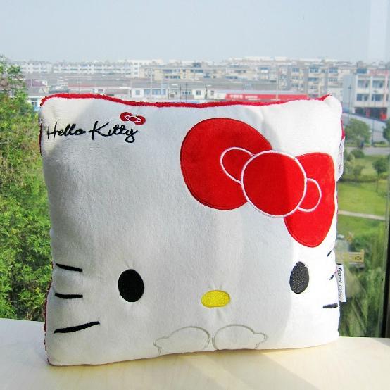 [Preorder] หมอนอิง Hello Kitty สีขาว (2 ใบ/1 แพ็ค) Hello kitty cute kitty pillow nap pillow cushions creative office couple girls gifts