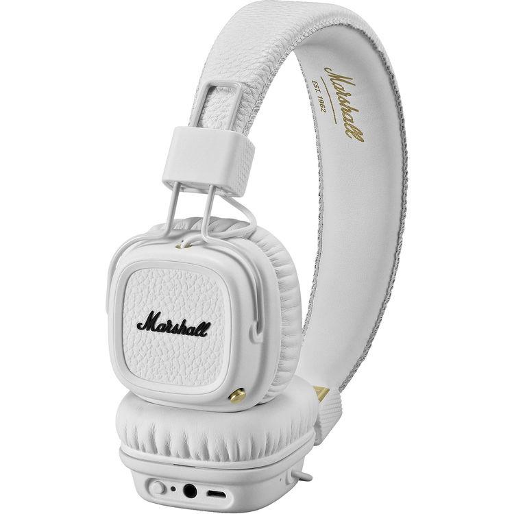 หูฟัง Marshall Major II Bluetooth สีWhite