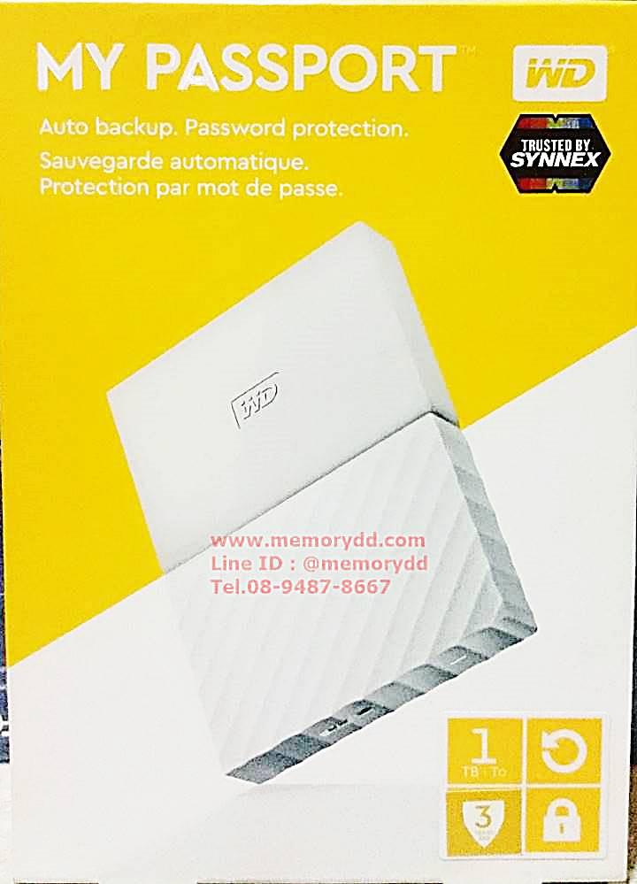 "WD New Passport Ultra 2017 1TB 2.5"" (White) USB3.0 (WDBYNN0010BWT-WESN)"