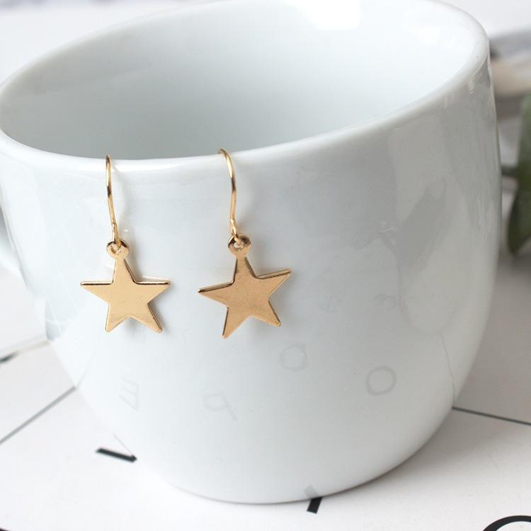 ต่างหูดาว Minimal Star Earrings