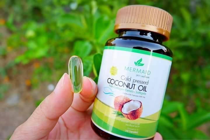 น้ำมันมะพร้าวสกัดเย็น เมอร์เมด Coconut Oil Cold Pressed By Mermaid
