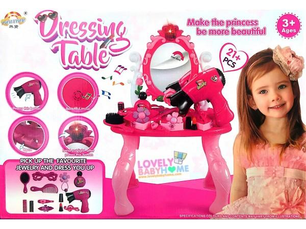 โต๊ะเครื่องแป้งเด็ก มีเสียง มีไฟ ไดร์เป่าลมอ่อนๆได้