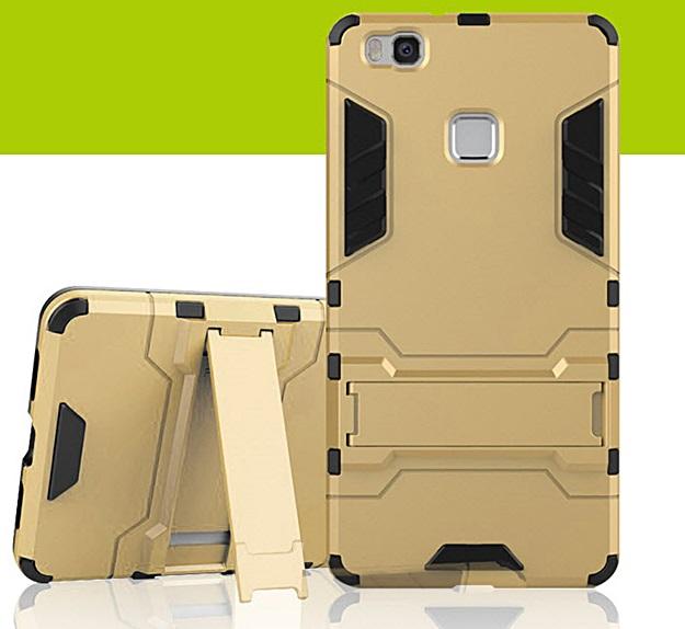 (394-024)เคสมือถือ Case Huawei P9 Lite เคสกันกระแทกขอบนิ่มพร้อมขาตังโทรศัพท์ในตัวทรง IRON MAN