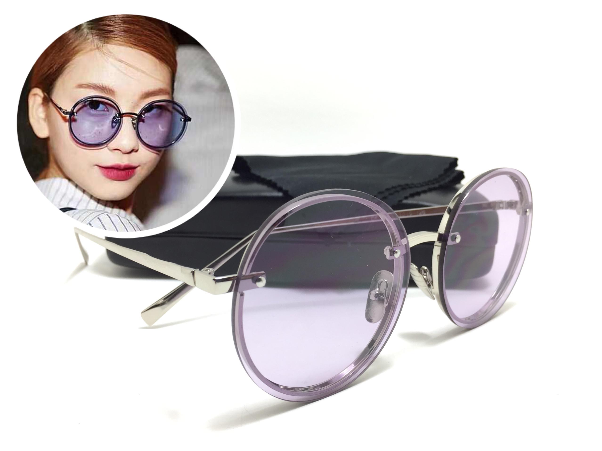 แว่นกันแดดแฟชั่น Silver Frame Purple Sheet OF 8292 66-15 126 <ม่วง>