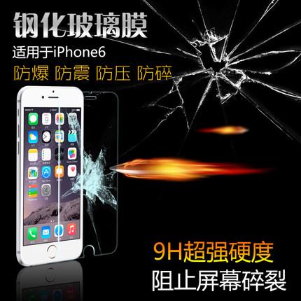 (039-022)ฟิล์มกระจก iPhone6 4.7นิ้ว รุ่นปรับปรุงนิรภัยเมมเบรนกันรอยขูดขีดกันน้ำกันรอยนิ้วมือ 9H HD 2.5D ขอบโค้ง