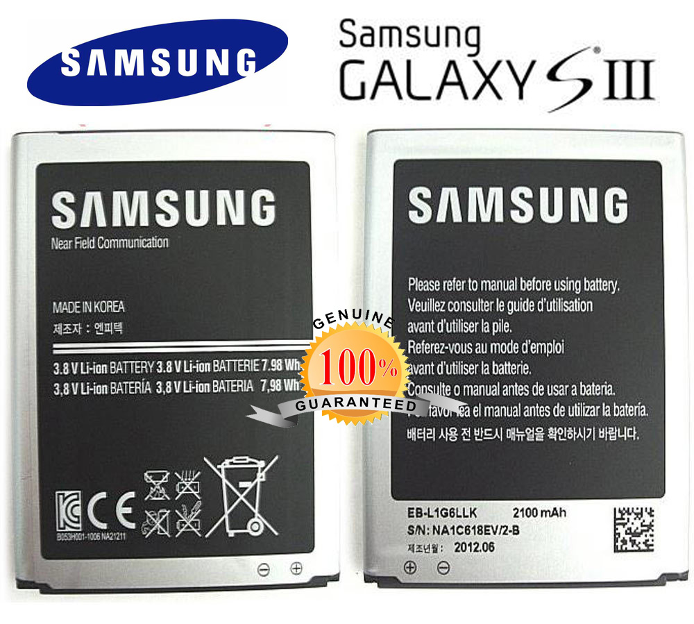 GENUINE Samsung Galaxy S3 S III i9300 2100 mAh Battery