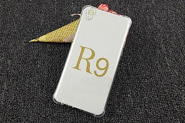 (291-021)เคสมือถือ Case OPPO F1 Plus (R9) เคสนิ่มใสบางพื้นจุดกันรอยนิ้วมือ