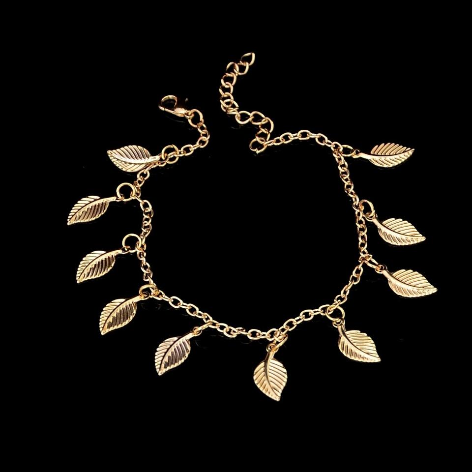 Gold Leaf Anklet สร้อยข้อเท้ารูปใบไม้สีทอง